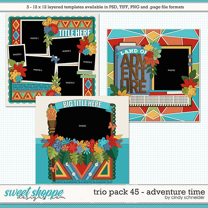 cindy s layered templates trio pack 45 adventure time by cindy