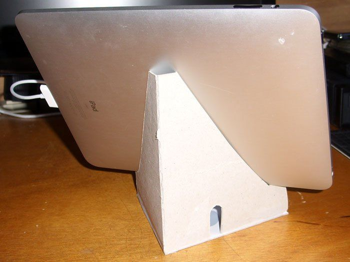 Diy Cardboard Ipad Stand Comes With A Handy Template To