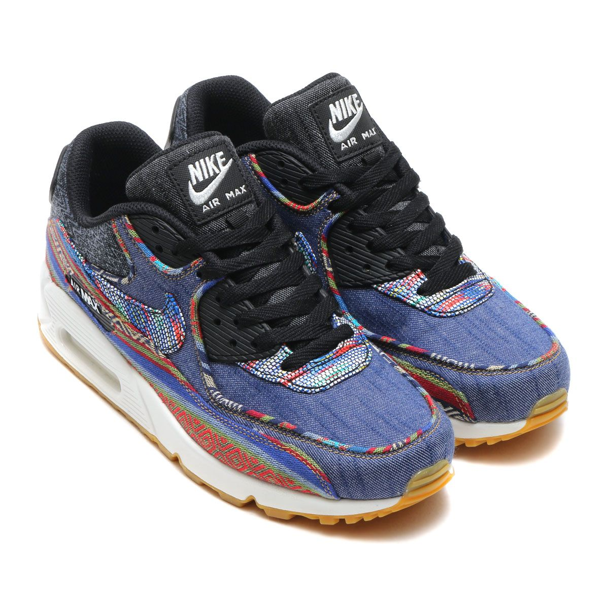 Best Drop Shipping Nike Air Max 90 SP Sacai Couple running shoes Dark blue black[80