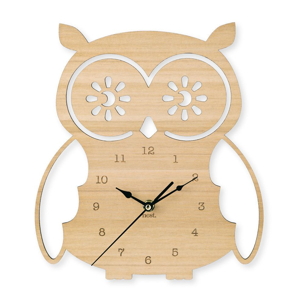 Owl Wall Clock Toddler Rooms Wall Clocks And Clocks