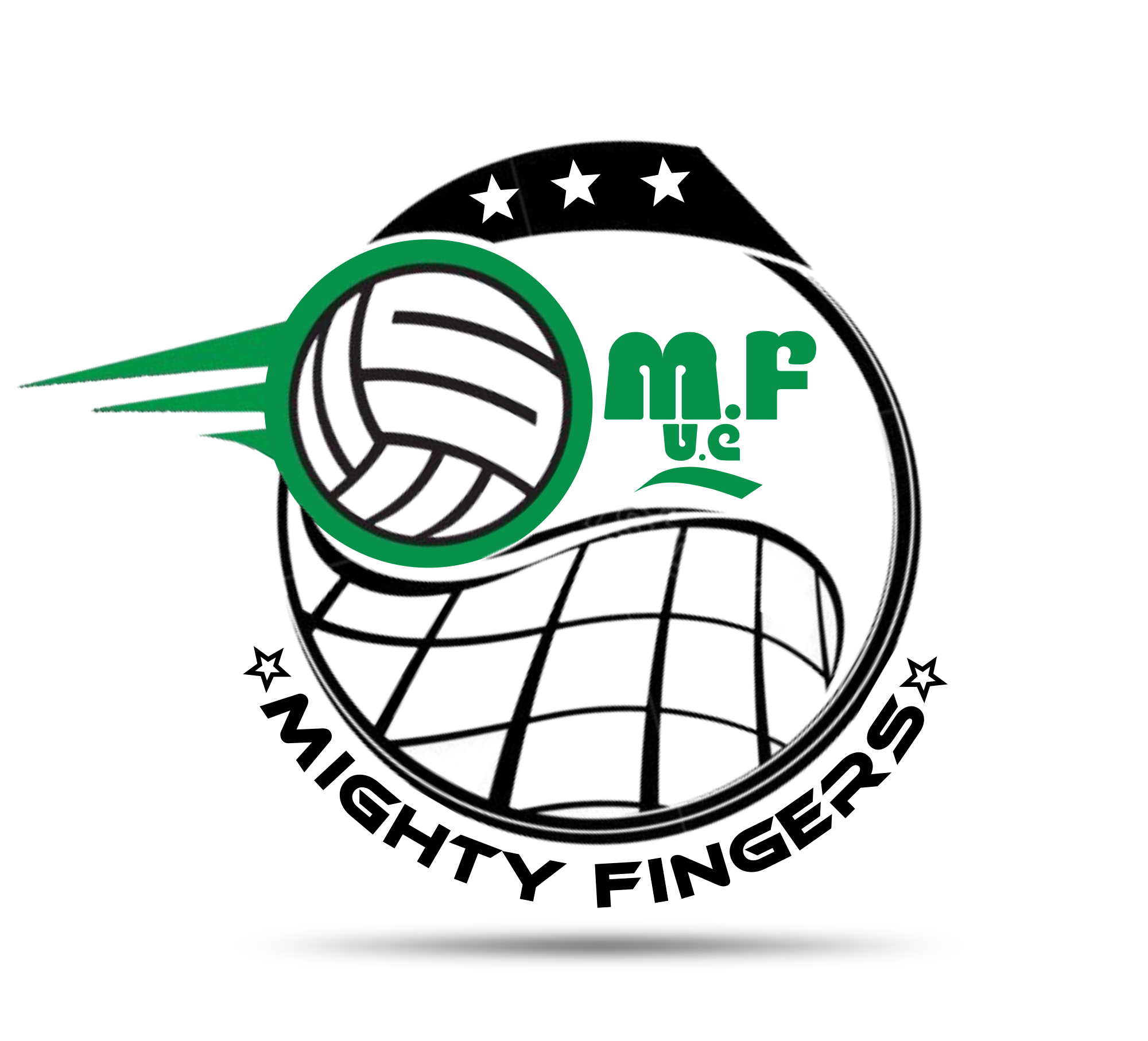 Official Logo Of Wa Mighty Fingers Volleyball Club Designed By 7graffix Club Design Printing Services Branding Services