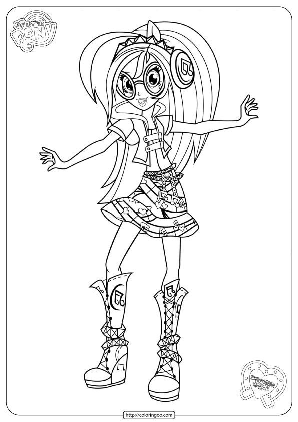Mlp Equestria Girls Dj Pon 3 Coloring Pages Coloring Pages For Girls My Little Pony Coloring Coloring Pages