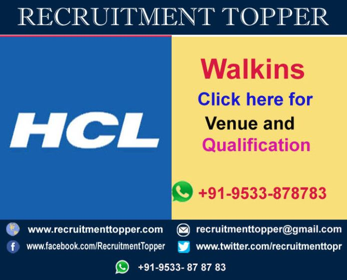 Pin by Recruitment Topper on Walkins in Delhi | Chennai