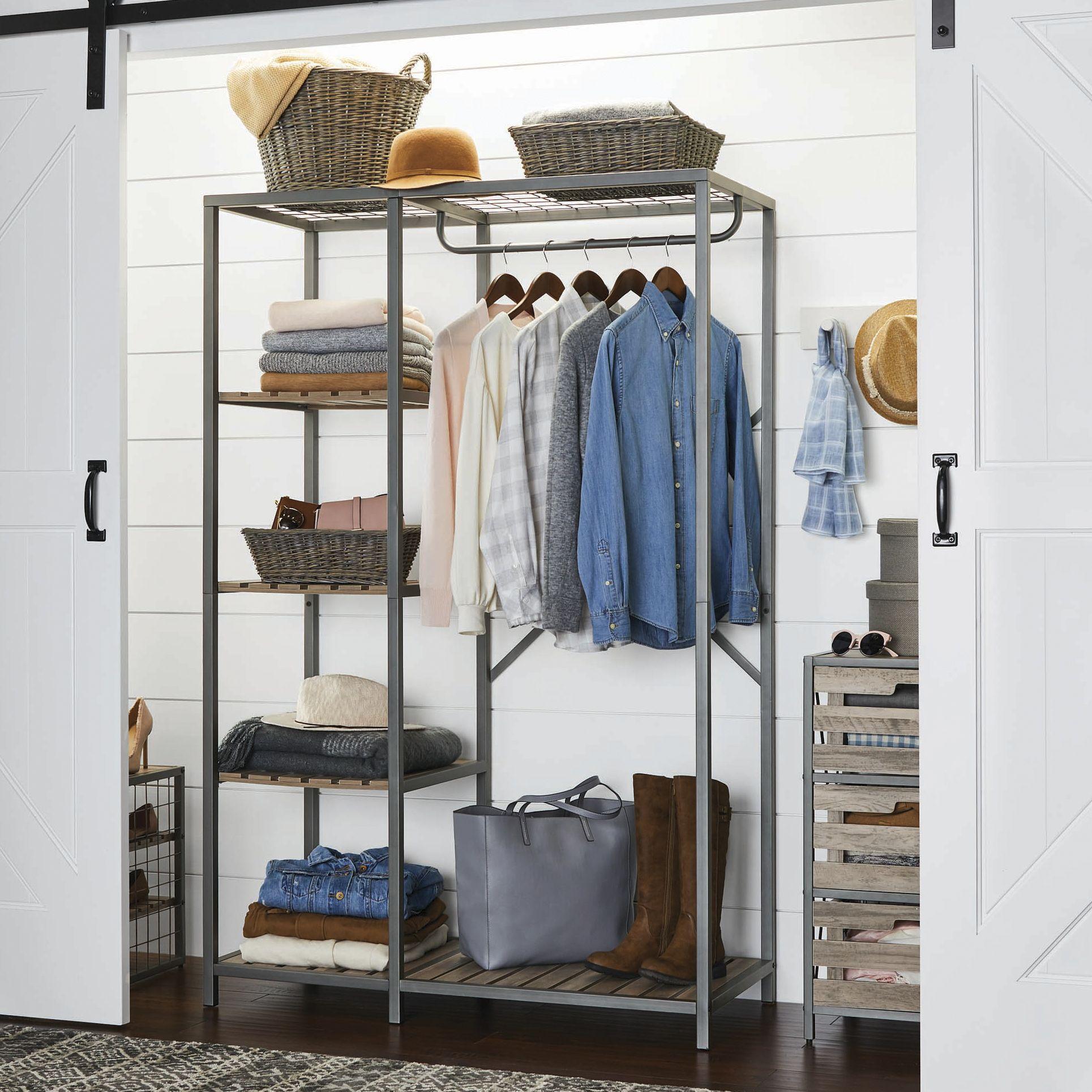 Shop By Brand Garment Racks Wardrobe Design Grey Wood