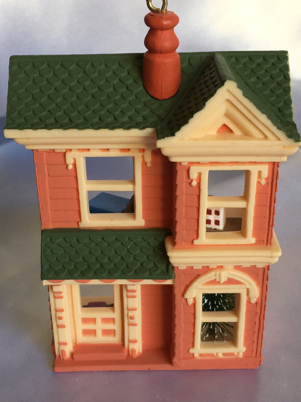 Nostalgic Houses And Shops First In series Victorian Dollhouse 1984 Hallmark Ornament #victoriandollhouse