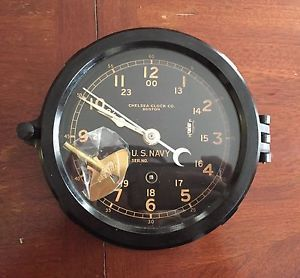 chelsea ships clock vintage chelsea clock co boston bakelite us navy ship s 2138