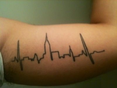 City pulse tattoo