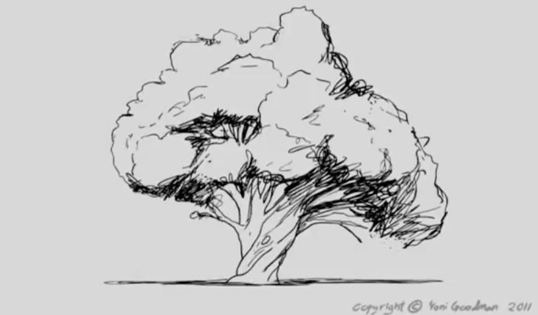 """Yoni Goodman  - Se siete amanti degli alberi godetevi questo meraviglioso schizzo di un animatore istraeliano che rende omaggio alle gigantesche creature de """"IL MIO VICINO TOTORO"""" di Hayao Miyazaki.    https://www.youtube.com/watch?v=MVWigkN7zSg"""