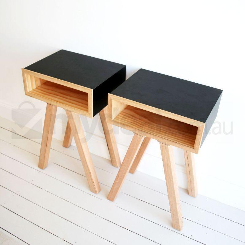 Cheap Bedside Table betty matte black wooden bedside table scandinavian | buy bedside