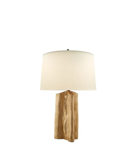 Visual comfort thomas obrien sierra 1 light table lamp in gild with natural paper shade tob3735g