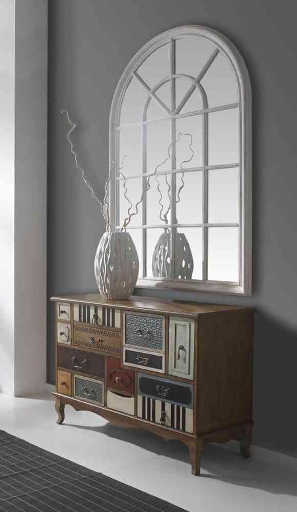 Espejo ventana en blanco house pinterest ventana for Espejos para hall
