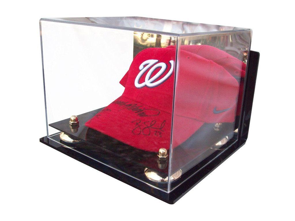 Acrylic Baseball Cap Display Case Mirror V21 A006 Display Case Cap Wall Cap Display