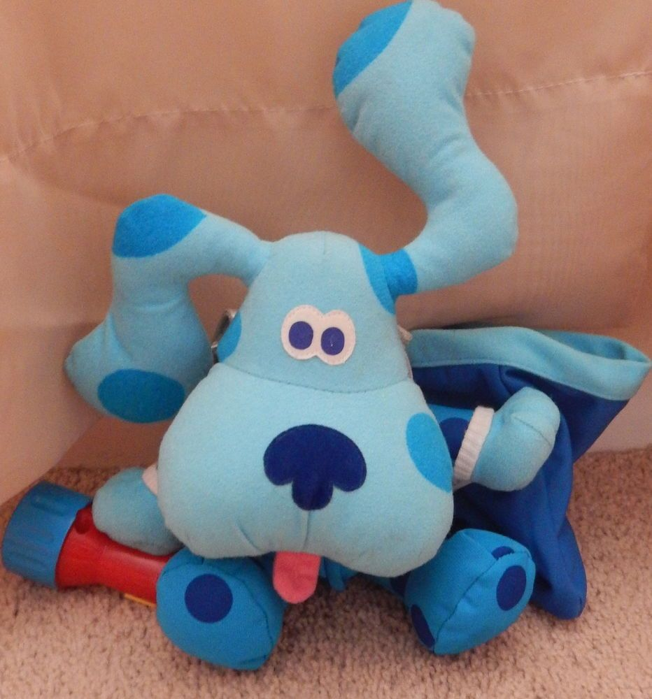 1999 tyco rare blue u0027s clues bedtime blue w flashlight