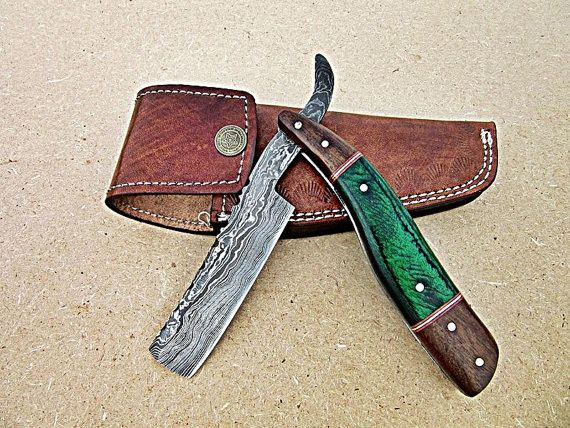 Overview Handmade Item Materials Damascus Steel Wood Ships Worldwide From United Kingdom Rock Solid Thick Blade With Gorgeous Straight Razor Straight Razor Shaving Damascus Steel