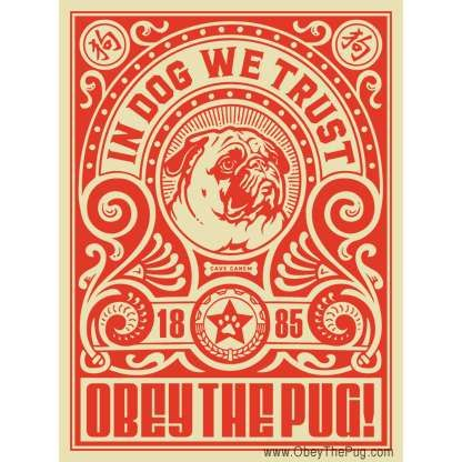 Obey the Pug poster