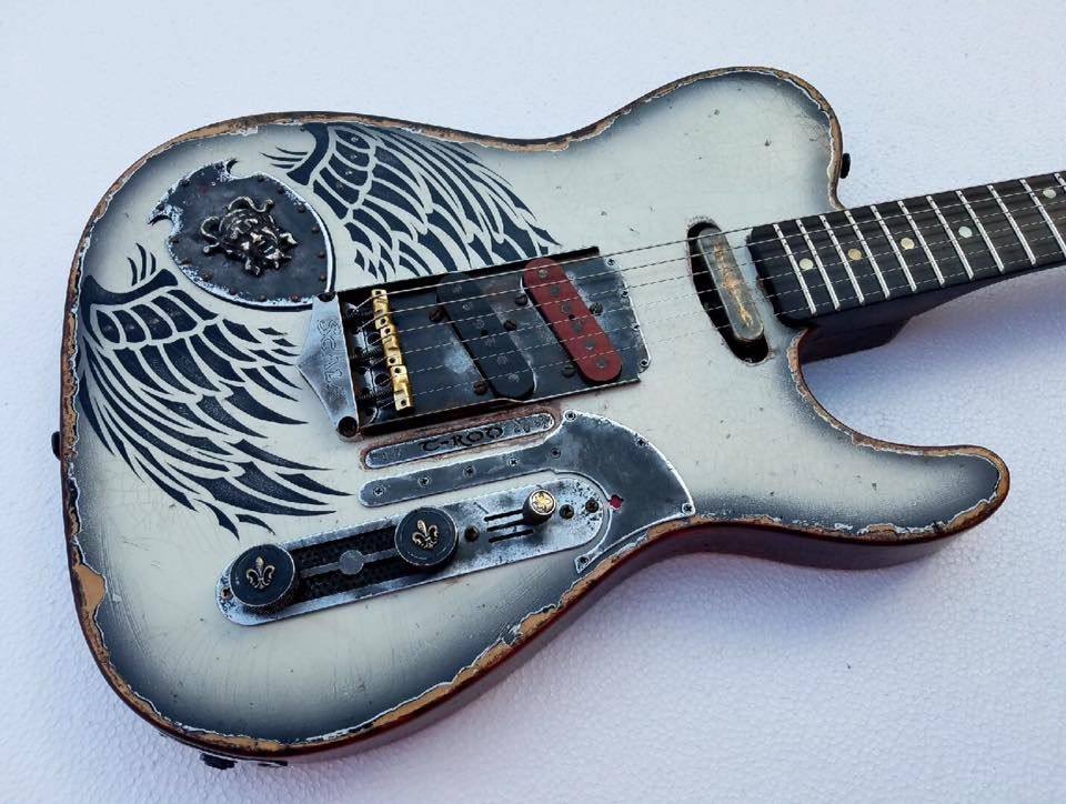 Scala Guitars T Rod Diamonds Rust Musical Instruments