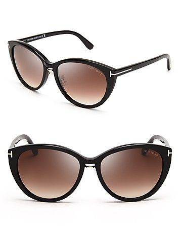 e859f11d25c4 Tom Ford Gina Cat Eye Sunglasses