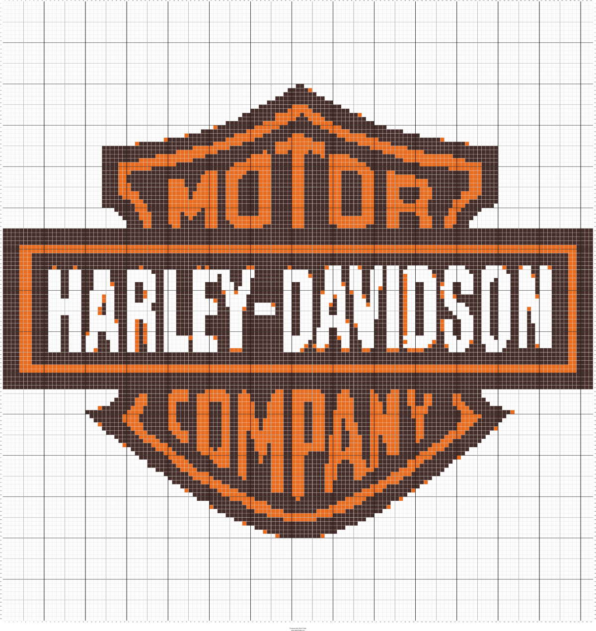 Harley Davidson Graph To Make A C2c Afghan Afghan Patterns