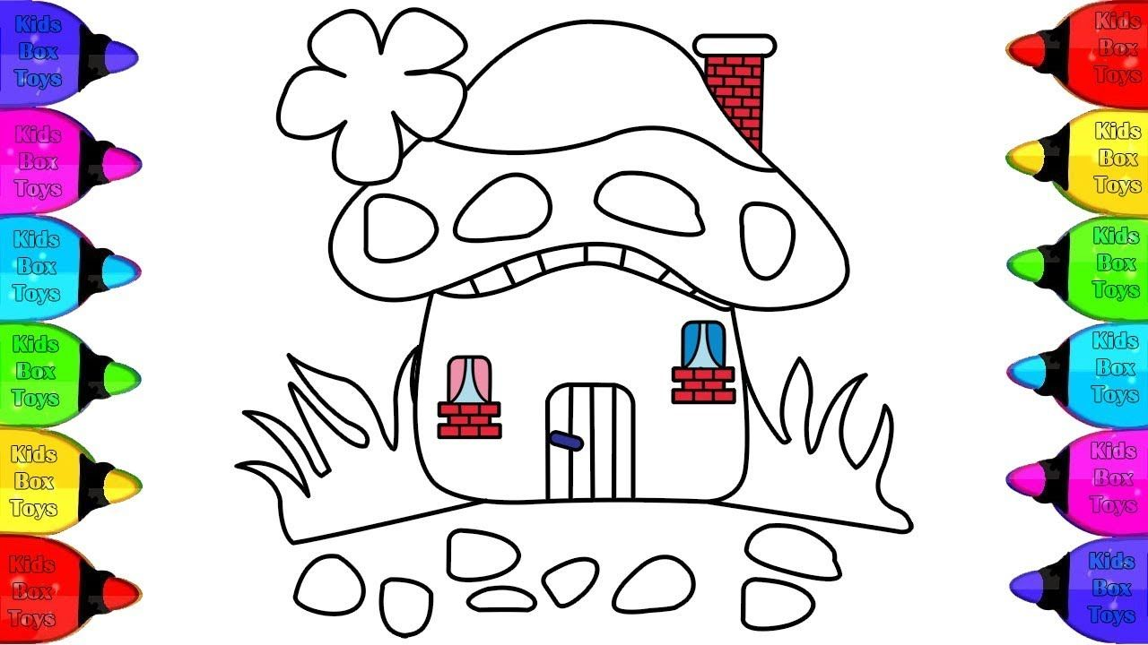 How To Draw A Colorful House For Kids Cute House Coloring Pages