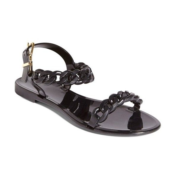 94ff90de8ffc Givenchy  Nea Chain  Logo Jelly Sandal ( 295) ❤ liked on Polyvore featuring  shoes