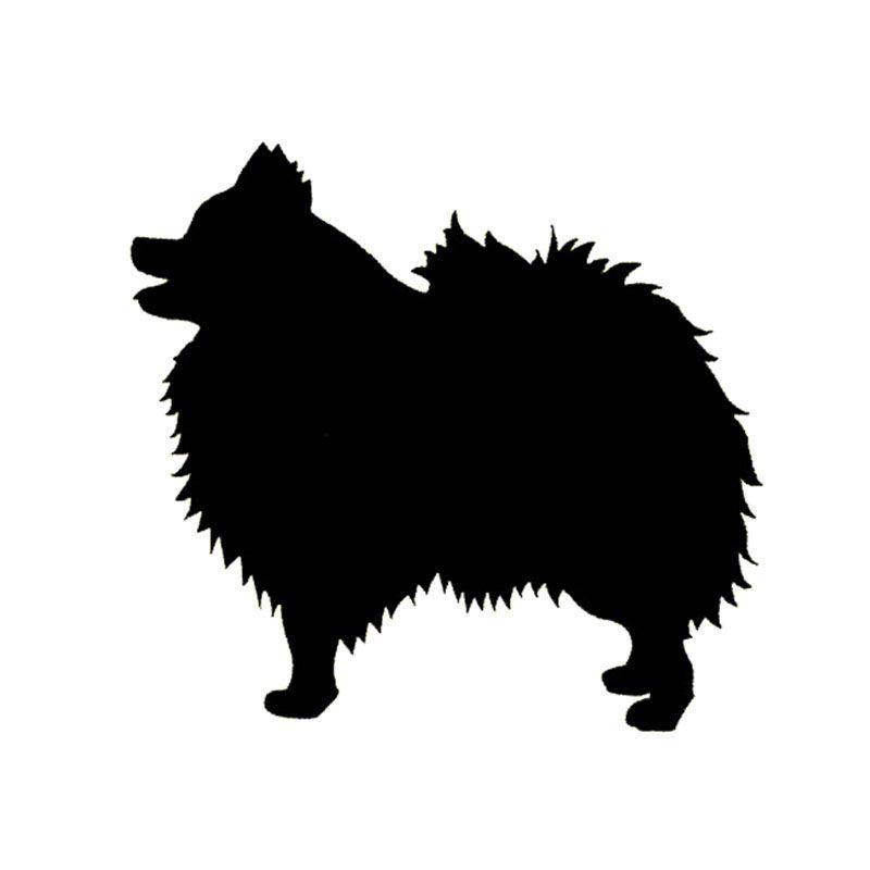 Wholesale 5pcs 10pcs 14 13cm Pomeranian Dog Bumper Sticker