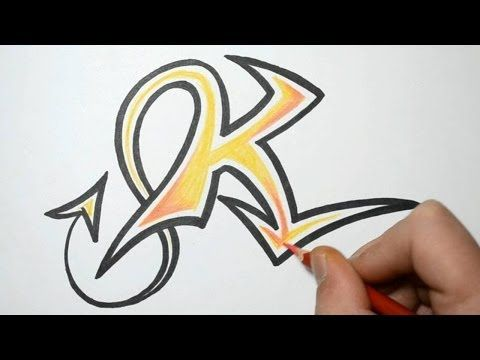 How to draw graffiti letters k youtube