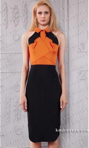Fabulous Dalefield Knee Length Tow Tone Gown Inspired By Zoe Saldana