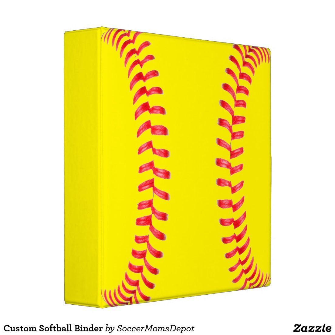 Custom Softball Binder