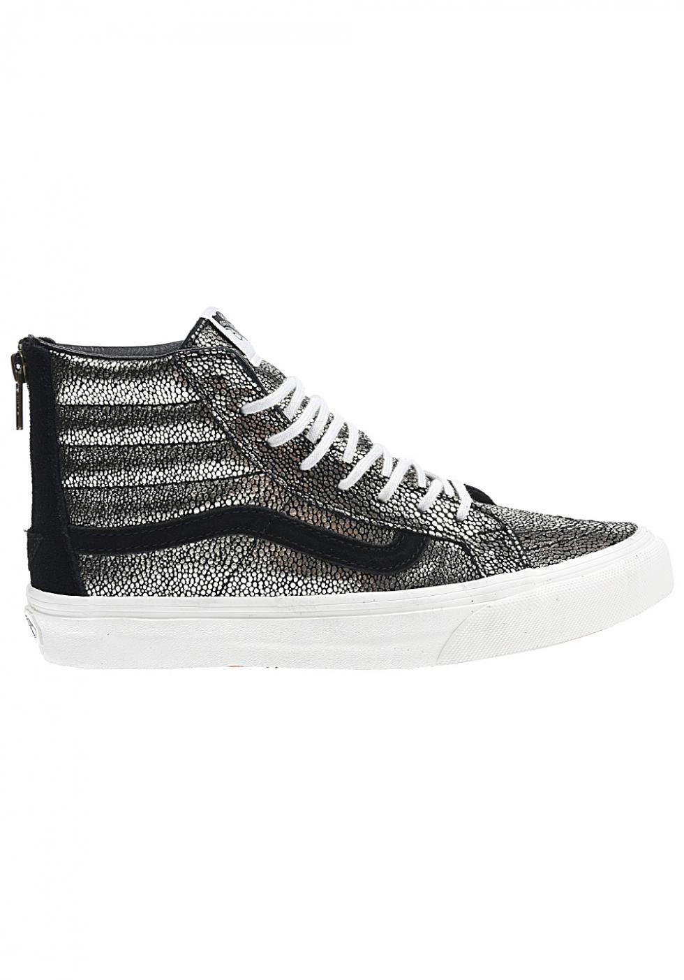 Easy Santefr Vans Sk8 Hi Slim Zip Or Gold Blanc De Sayings Sneakers True White