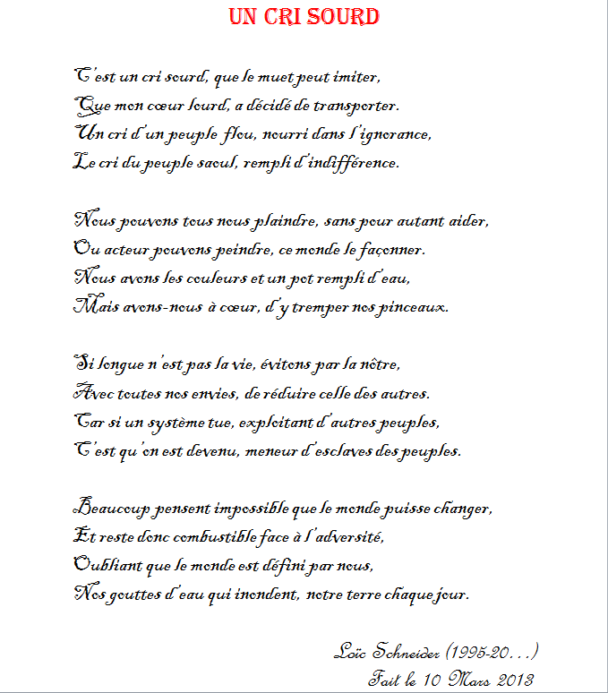 28 Un Cri Sourd Poeme Poesie Reflexion Le Cri