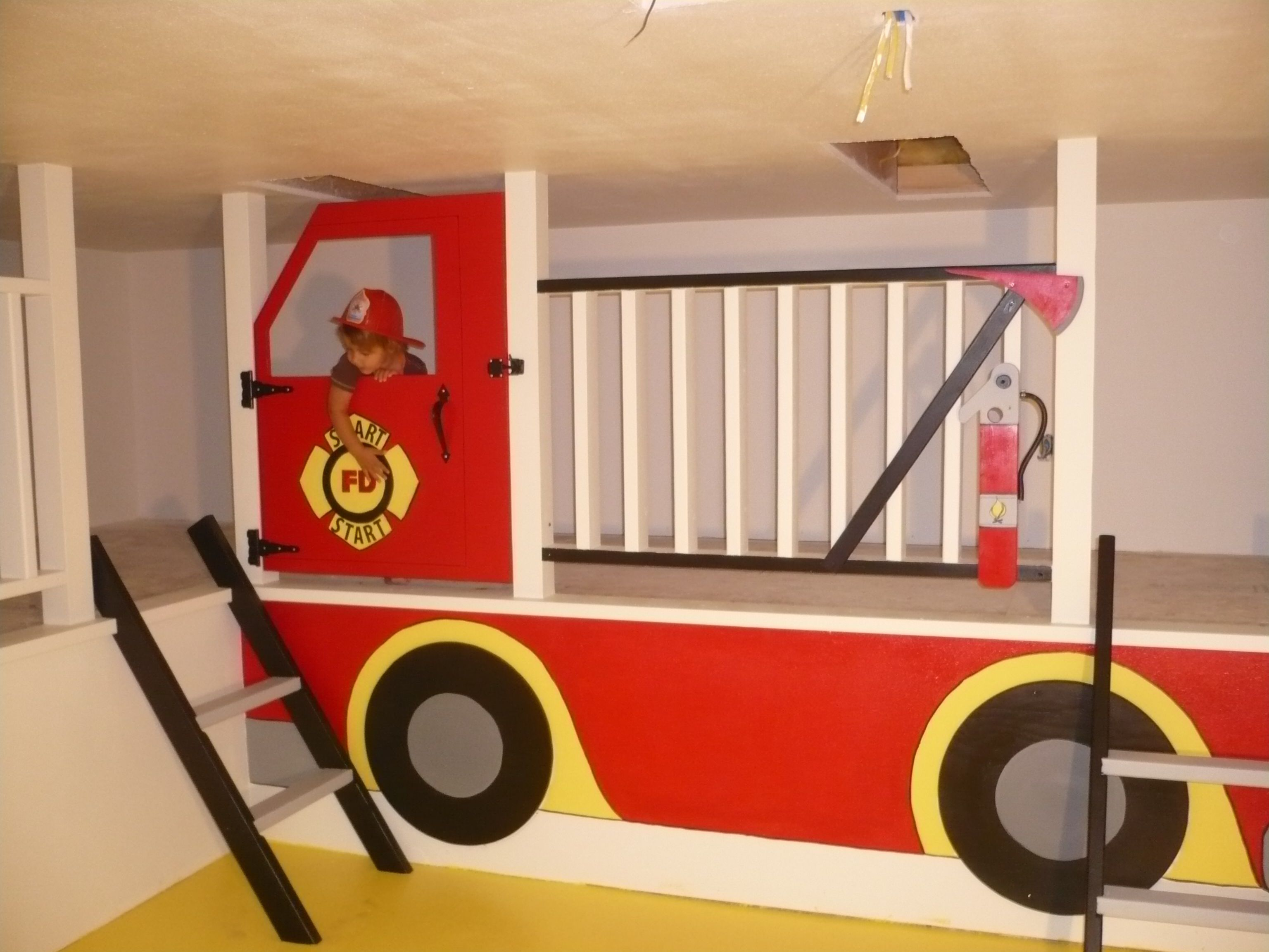 Nonbed fire truck loft. (But COULD do it as a bed, lol