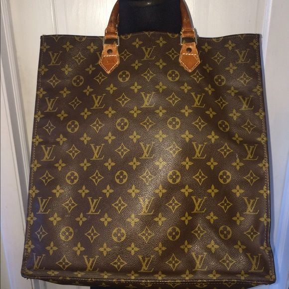 Vintage Louis Vuitton Sac Plat Tote Bag Clearly this bag has been used to  full capacity