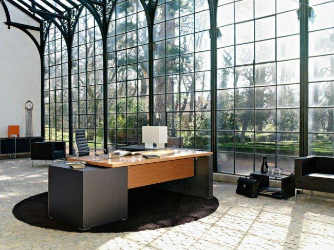 Büro design holz  Holz Bürotisch Teppich Luxus | Bürowelten, Arbeitsecken ...