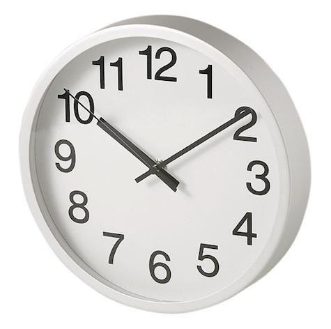 10 Easy Pieces Simple Kitchen Clocks Remodelista Clock Wall Clock Aluminum Wall