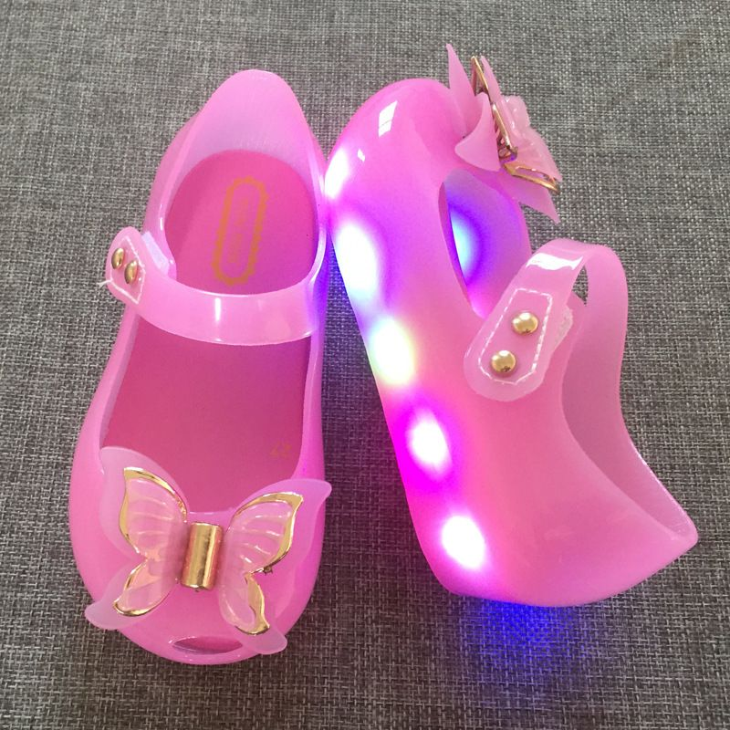 KID/'S MINI MELISSA SANDALS Butterfly Bow GIRL PRINCESS SHOES Jelly Shoes