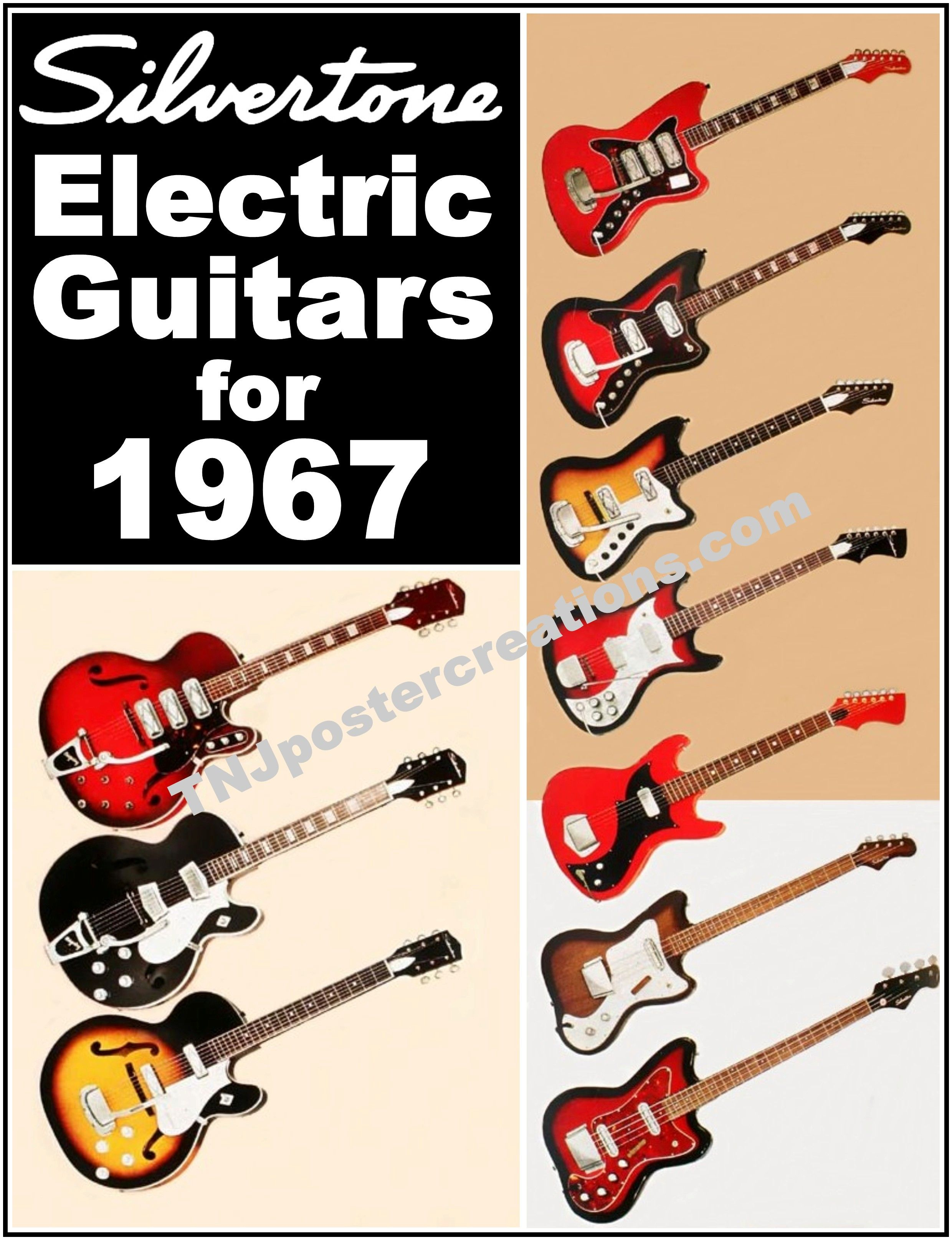 Vintage 1967 silvertone guitars ad berry brothers acoustic 1967 silvertone electric guitars promotional poster hollow solid body bass by mygenerationshop on etsy asfbconference2016 Choice Image