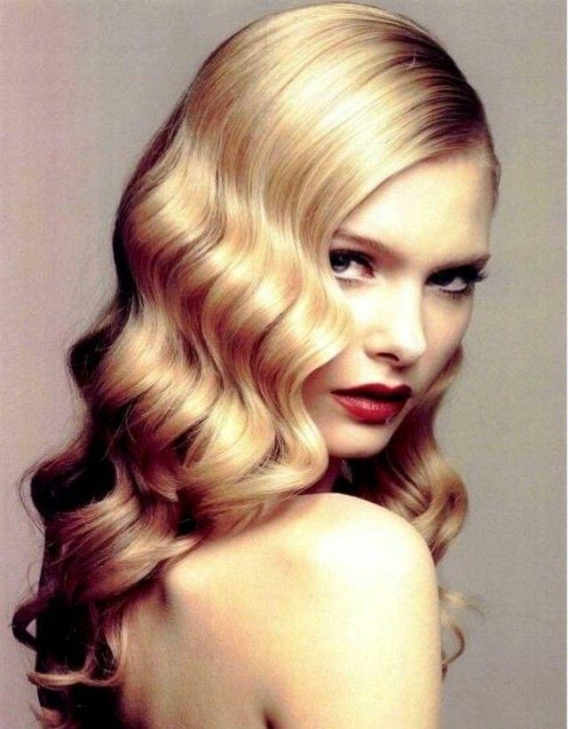 vintage frisur haarwellen mit glanz | haare | pinterest | vintage