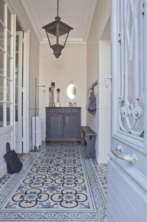 Photo of schöner boden | städtisches Häuschen | grauer Fliesenboden | c … – #Cottage…