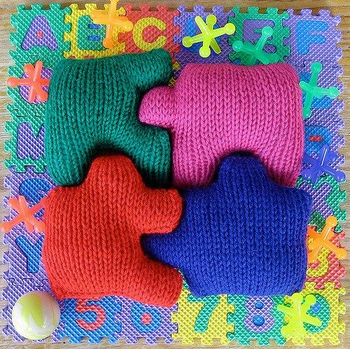Free Knitting Pattern for Soft Toy Puzzle for Baby ...