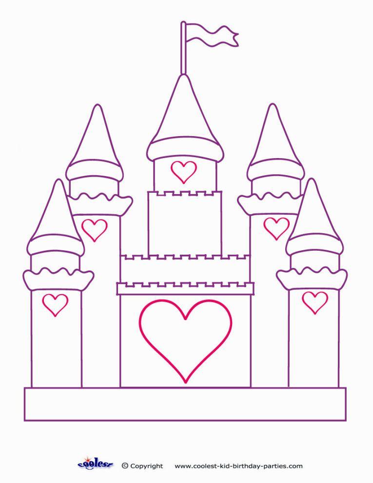 Castle Coloring Pages Coloring