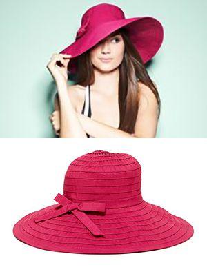 Ribbon Bow Floppy Hat