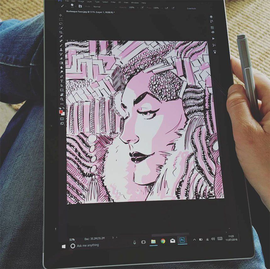 Microsoft Surface Pro 4 Drawing Tool Wings Art Art Studio Design Art Studio