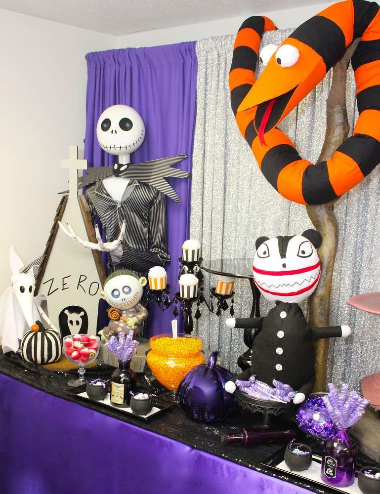 dont miss this fun the nightmare before christmas birthday party see more party ideas and share yours at catchmypartycom halloween