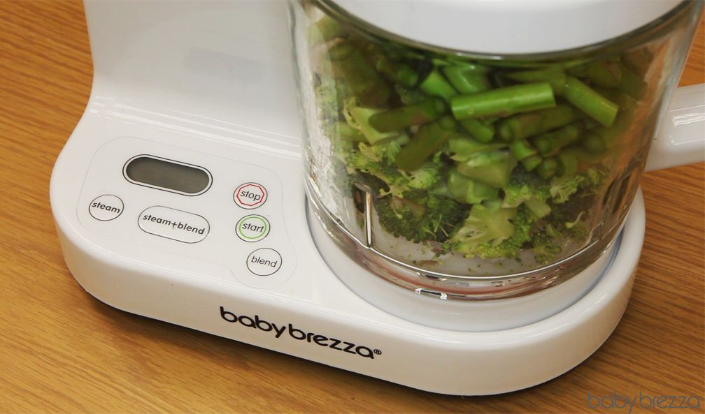 e03212c0ee87 Puree asparagus and broccoli in seconds in the Glass One Step Baby Food  Maker!