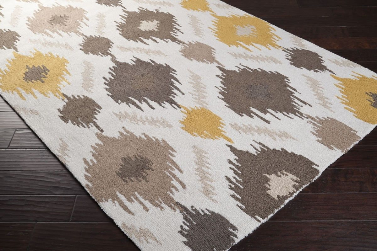 Inspiring Floor Cover With Surya Rugs Ideas Bwood Antique White Grey Yellow For