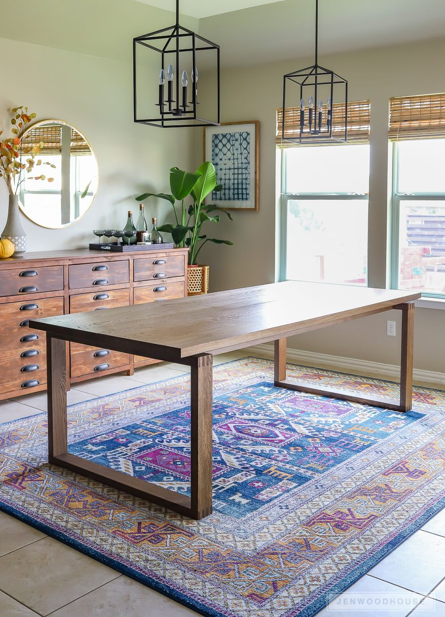 How To Build A Modern Box Joint Dining Table Diy Dining Room Table Diy Dining Modern Dining Table