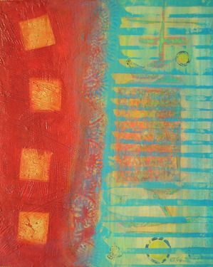 "Saatchi Online Artist Nartana Holzweiler; Painting, ""grid/ bits and pieces"" #art"