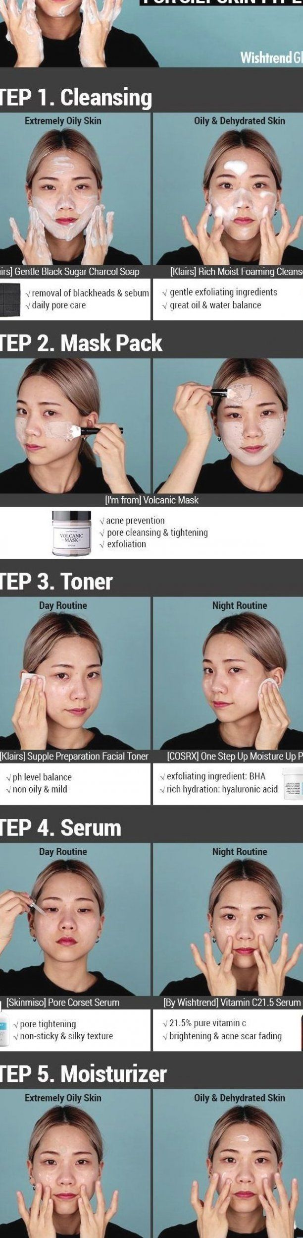 5 Step Korean Skincare Routine For Oily Skin Type Makeup And Skincare Skincare Tips Beauty Beauty Styles Best Beauty Beauty And The Best Health In 2020