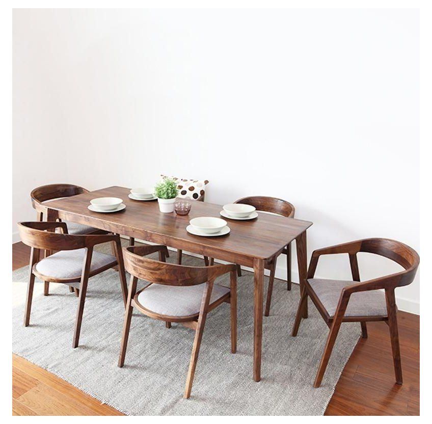 Photo of chair design wooden dining table