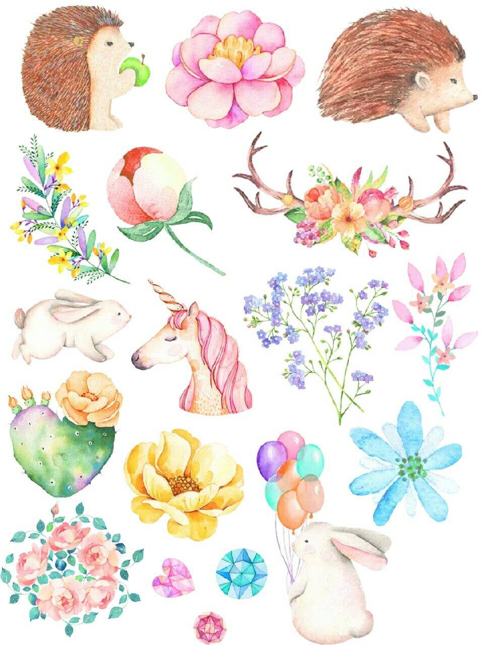 White Forest Free Stickers Printable #dream #unicorn # ...